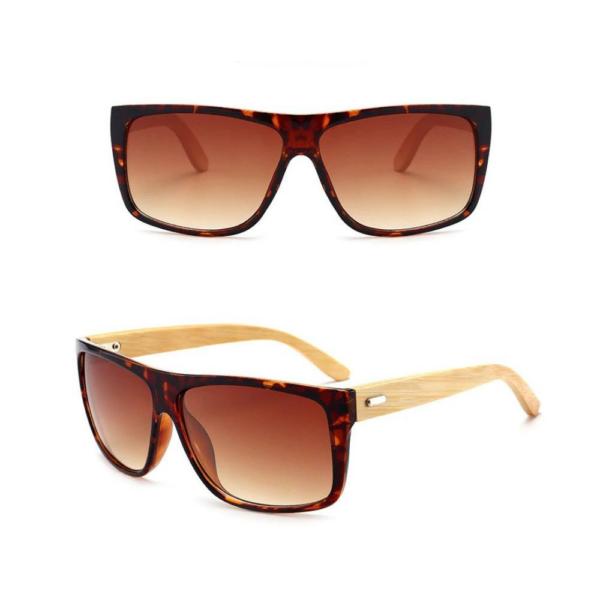 YOOSKE bambusz keretes napszemüveg barna lencsével