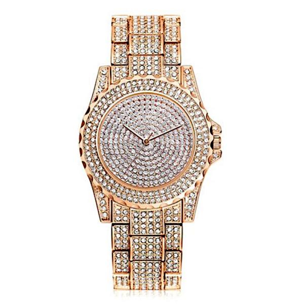 Maria King 2020-as kristálykavalkád rose gold női karóra