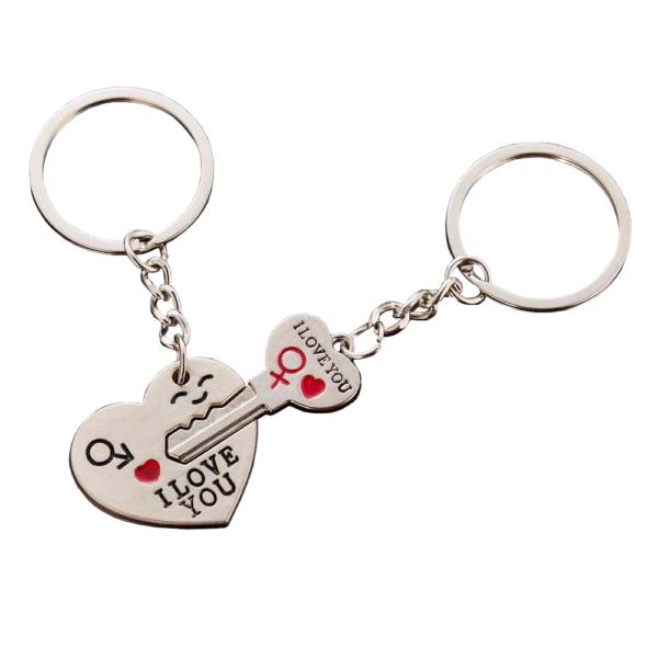 szív és kulcs kulcstartó