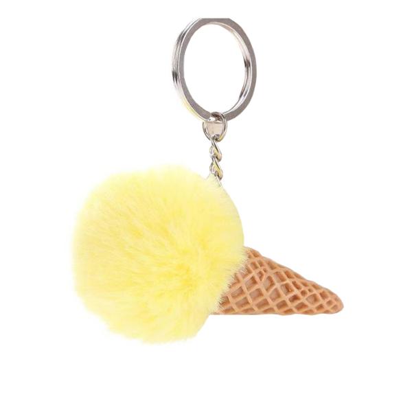 Fagyi pompom/kulcstartó, sárga