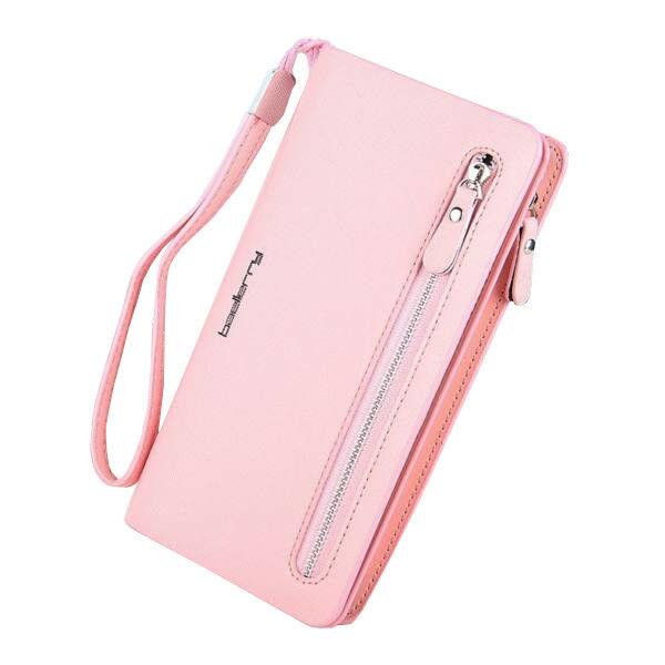 Gyönyörű dizájnbőr pink női pénztárca