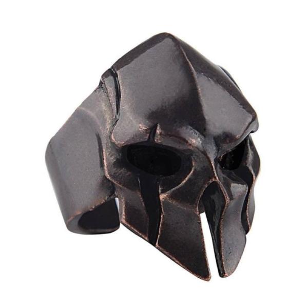 Nemesacél Spartan Hero állítható méretű gyűrű, antik bronz színű