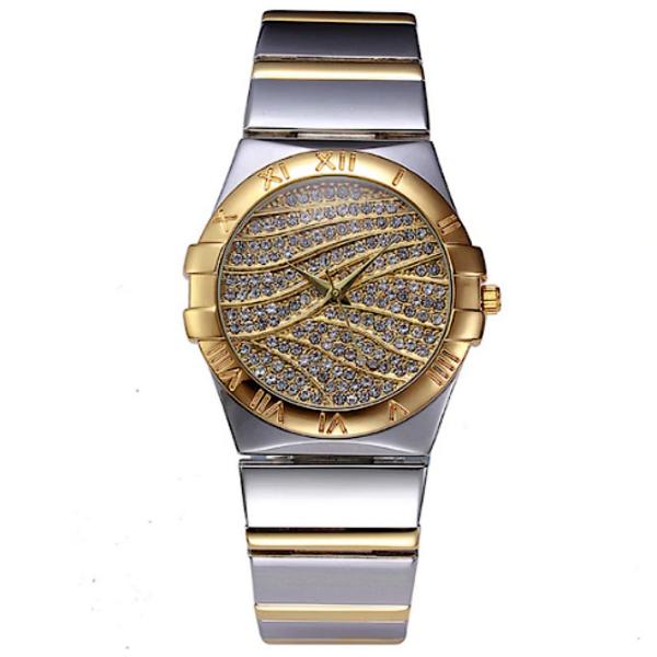 Miss Fox kristály számlapos ezüst-arany színű női óra - csepp- és karcálló