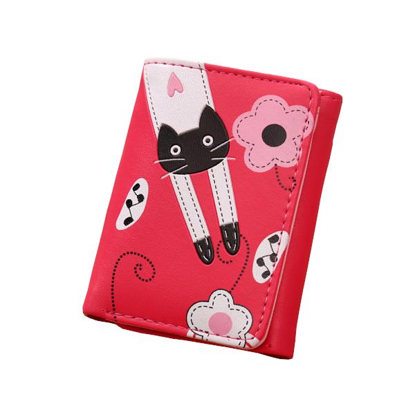 Nyújtózkodó cicás pénztárca, pink
