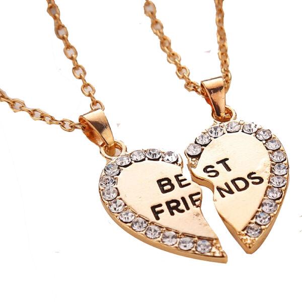 Best friends páros nyaklánc, kis kövekkel, arany színű