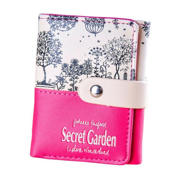 Secret Garden, pink-bézs pénztárca