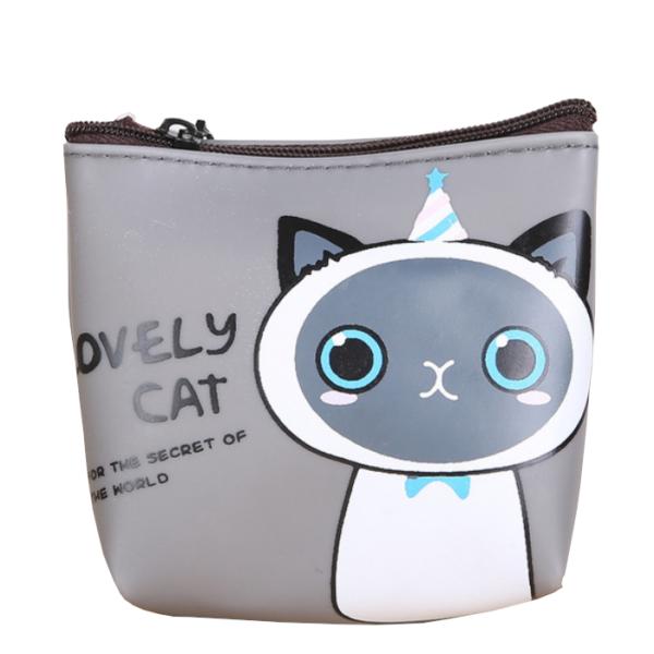 Lovely cat cicás pénztárca, szürke