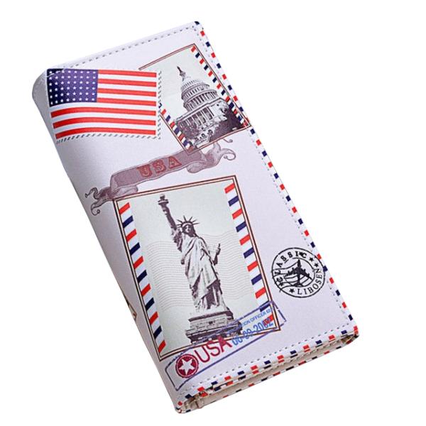 USA Statue of Liberty műbőr női pénztárca (18x9 cm)