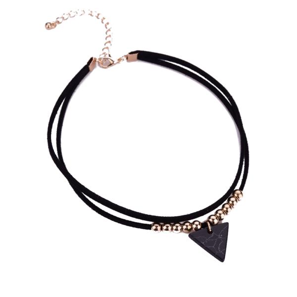 háromszög medálos bársony nyaklánc