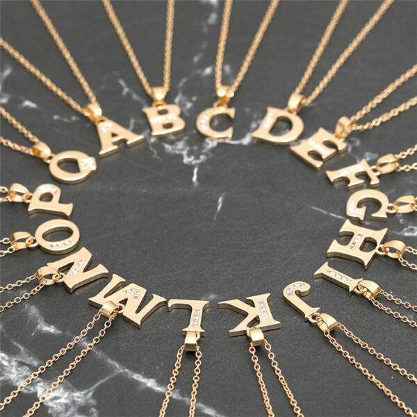Arany színű BETŰ medálos nyaklánc - A