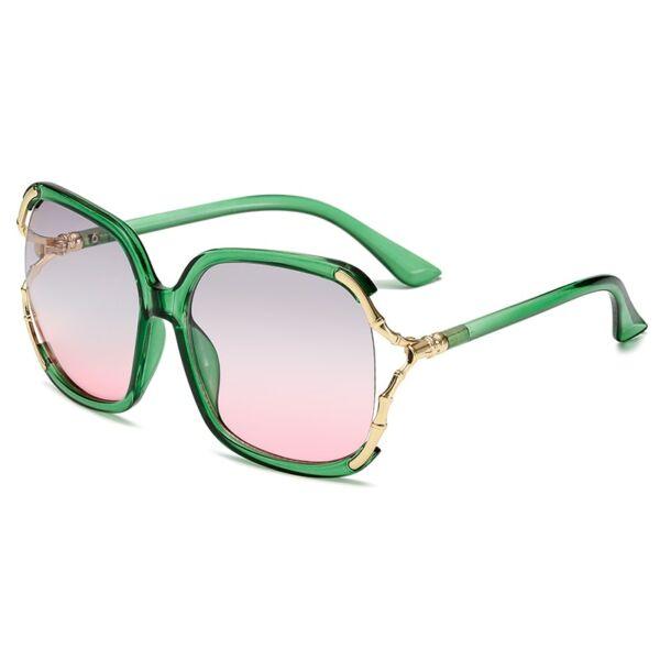 Színátmenetes divat női napszemüveg, zöld
