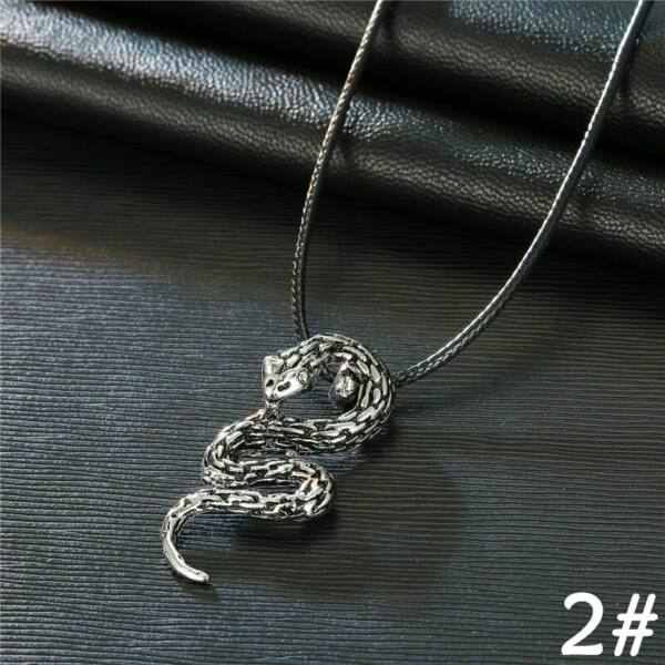 Kígyó medál műbőr nyaklánccal, 50 cm
