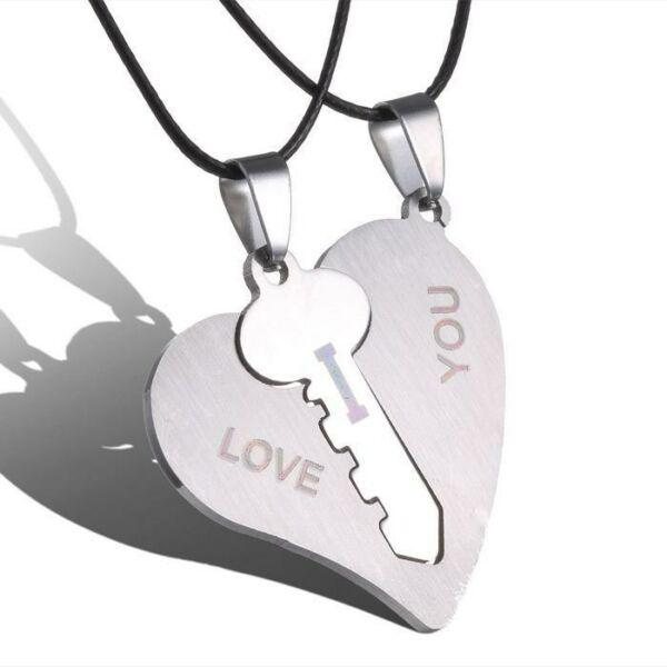nemesacél szív és kulcs