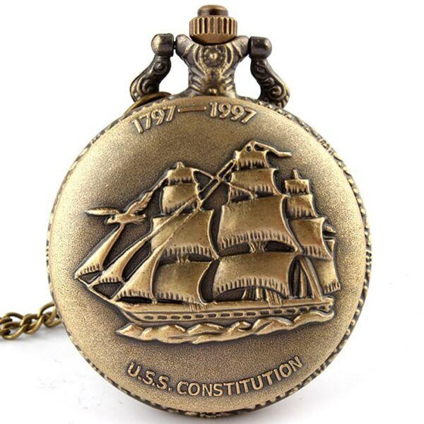 Vitorlás nemesacél zsebóra, USS Constitution