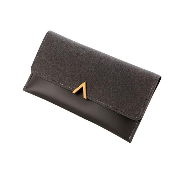 Női műbőr boríték-pénztárca, fekete