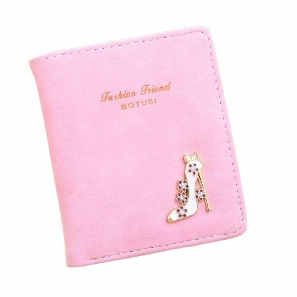 Fashion Friend műbőr magassarkú cipős pénztárca, rózsaszín