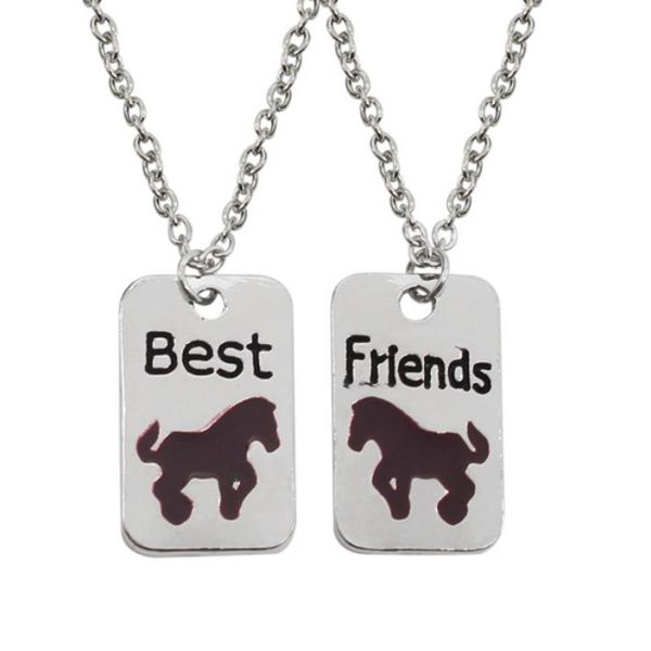 """""""Best friends"""" lovacskás páros nyaklánc"""