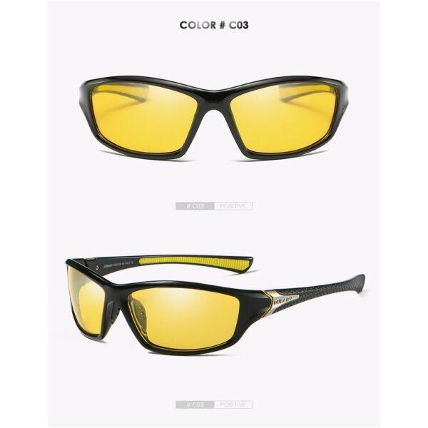DUBERY polarizált sport férfi napszemüveg, fekete
