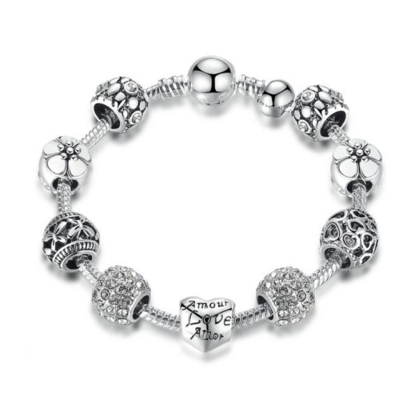Pandora stílusú Charm karkötő