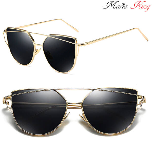 cat eye napszemüveg, arany kerettel