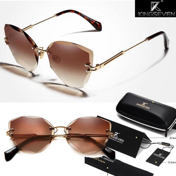 keret nélküli színátmenetes polarizált női napszemüveg