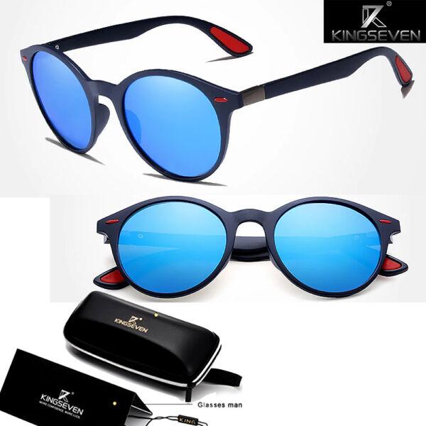 sportos polarizált napszemüveg kék lencsével,