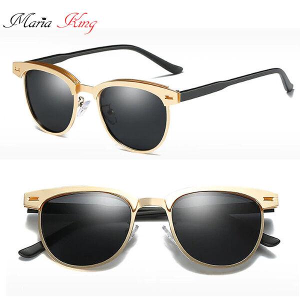 polarizált arany-keretes napszemüveg