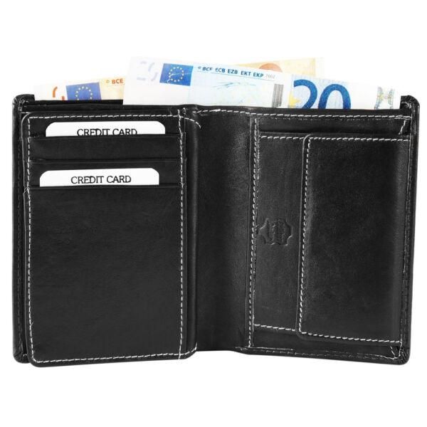 Akzent pénztárca, Valódi Bőr, Férfi (12x10), fekete