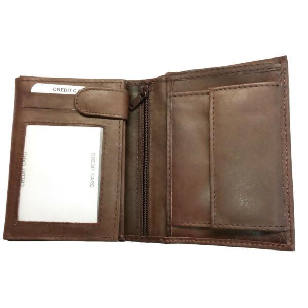 Akzent pénztárca, Valódi Bőr, Férfi, barna