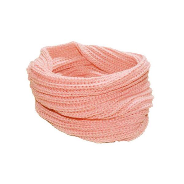 Rózsaszín puha kötött csősál