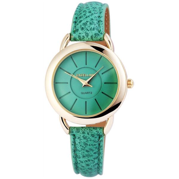 Különlegesen szép vékony szíjas Excellanc Női Karóra, zöld