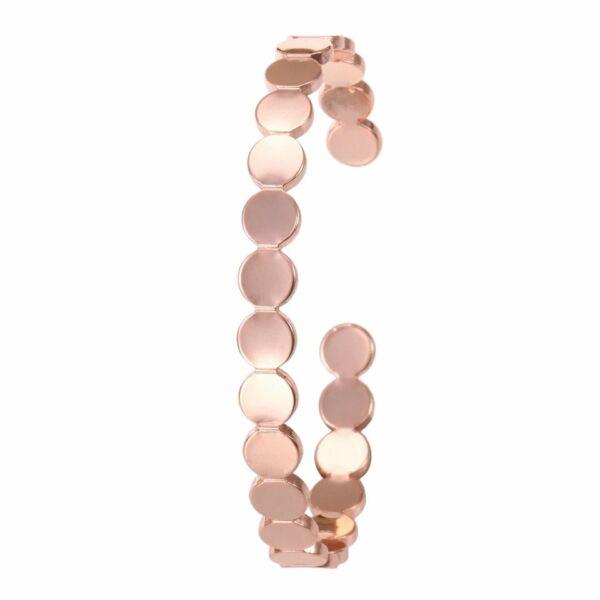 Különleges dizájn nyitott karperec, rose gold színű