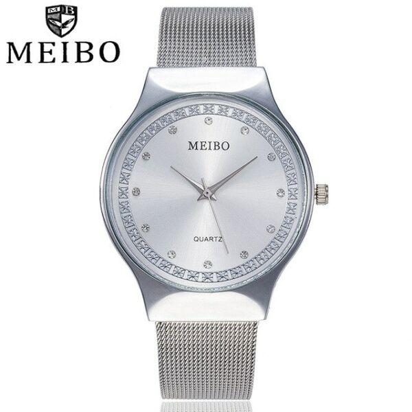 MEIBO cseppálló női karóra, ezüst színű