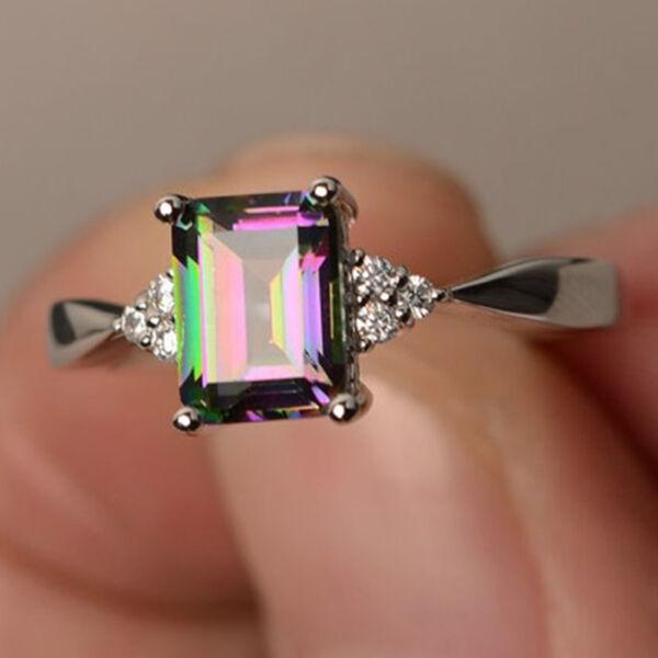 Multikolor nagy kristályos vékony gyűrű kis kövekkel, több méretben