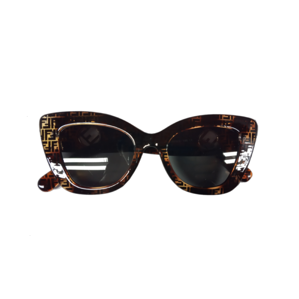 Mintás keretes vagány női napszemüveg