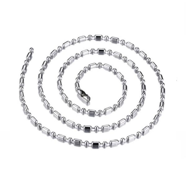 Elegáns nemesacél nyaklánc, ezüst színű, 50 cm