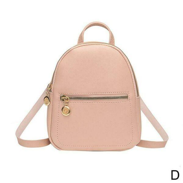 Tini műbőr hátizsák, 20x18 cm, pink