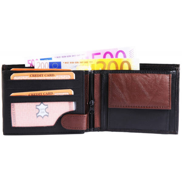 Monopol valódi bőr uniszex pénztárca