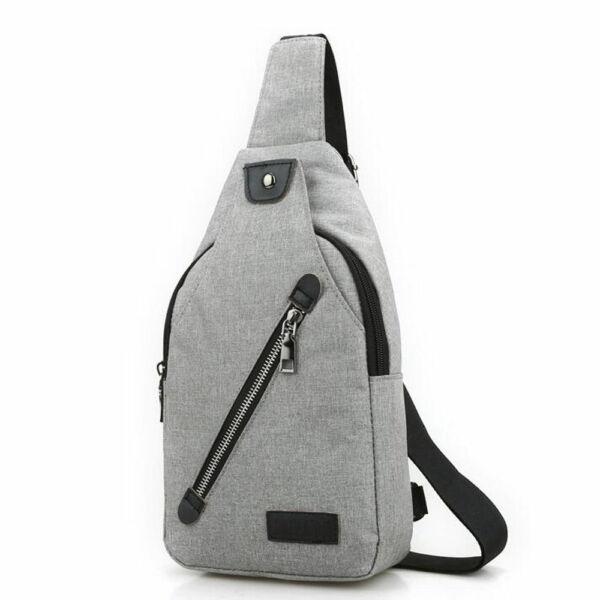 Kicsi, kényelmes uniszex vászon hátizsák (26x6x16 cm), szürke