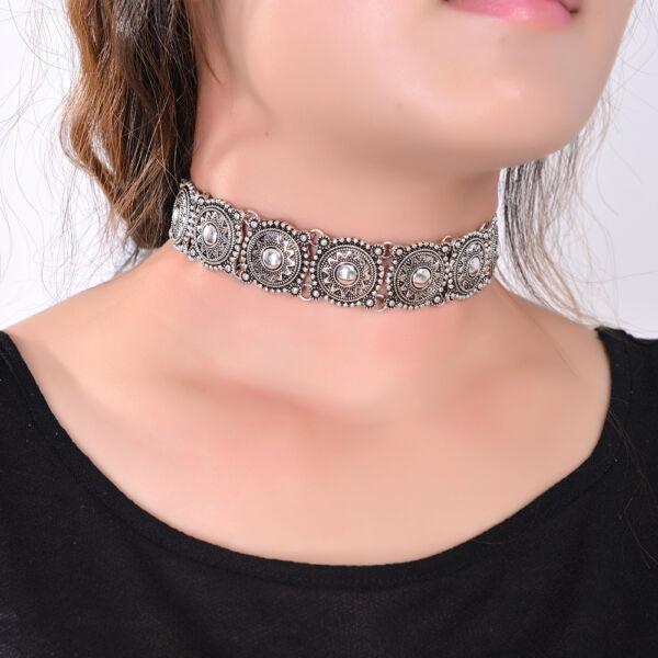 Ezüst színű vintage nyaklánc