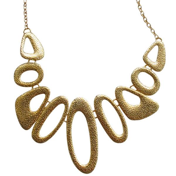 Geometrikus arany színű nyaklánc
