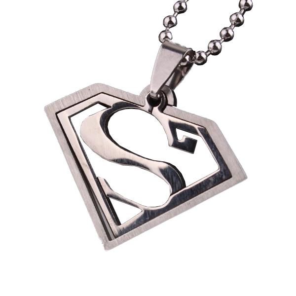 Két részes Superman jellegű medál nyaklánccal - nemesacél
