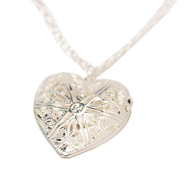 Szív alakú képtartó függő medál nyaklánccal