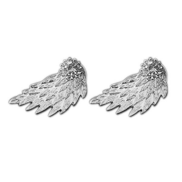 Angyalszárnyas fülbevaló, ezüst
