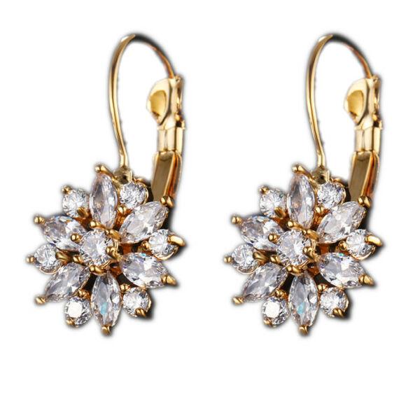 From Maria King Kristály virágos fülbevaló, arany színű