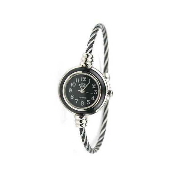 Kerek számlapos sodrott szíjas karkötő óra