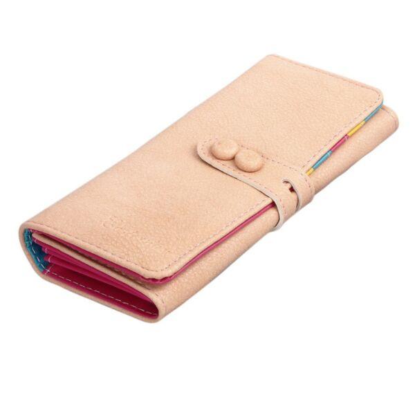 Bézs belül színes téglalap alakú pénztárca