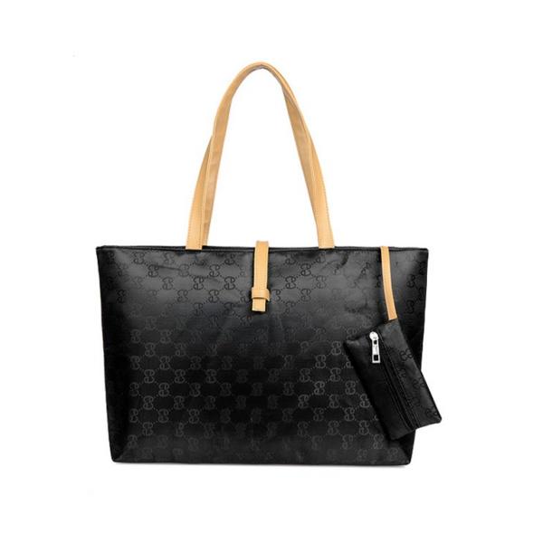 Fekete, mintás táska